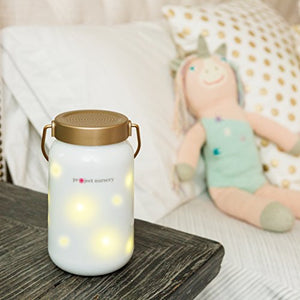 White Noise Machine for Baby - Project Nursery Dreamweaver Smart Night Light & Sound Soother with Bluetooth