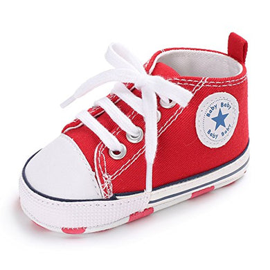 First Walker Infant High-Top Ankle Sneakers Newborn Crib Shoes