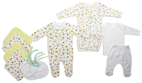 Neutral Newborn Baby 10 Pc Layette Baby Shower