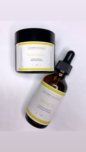 Men's Beard Care Duo by Adrianne's Naturals