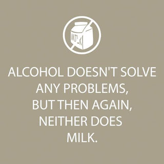 Alcohol Doesn't Solve Beverage Napkin (min.12)