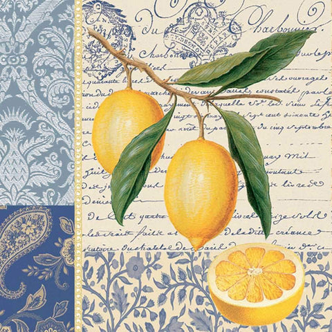 Citron Beverage Napkins