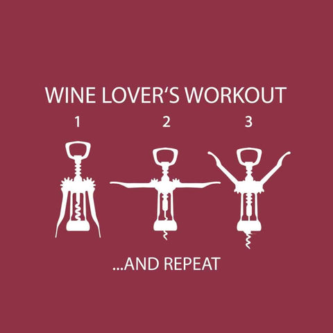 Wine Lover's Workout Beverage Napkin (min.12)