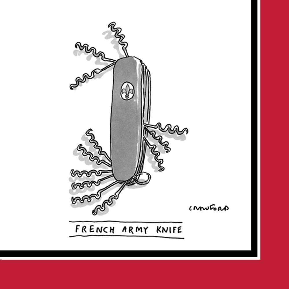 French Army Knife Beverage Napkin (min.12)
