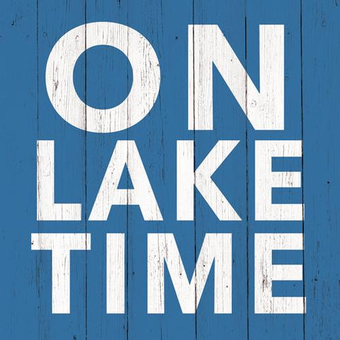 On Lake Time Beverage Napkin