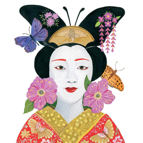 Madame Butterfly Beverage Napkins