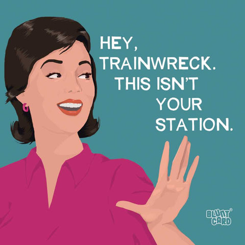 Hey Trainwreck Napkins