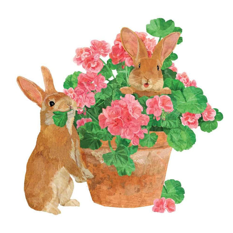 Flower Pot Bunnies Napkins