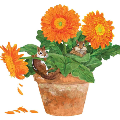 Flower Pot Chipmunks Napkins
