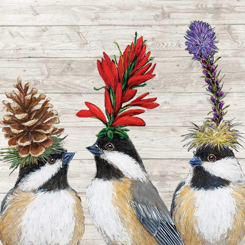 The Chickadee Sisters Beverage Napkin