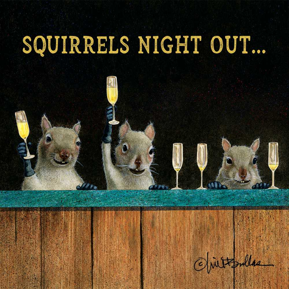 Squirrel's Night Out Napkins