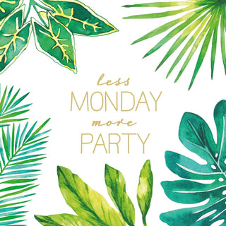 Less Monday More Party Beverage Napkin