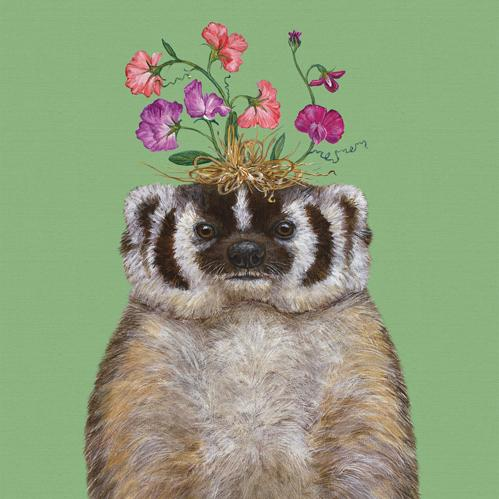 Sweet Pea The Badger Napkins