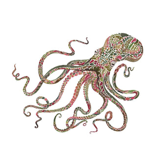 Green Octopus Lunch Napkin