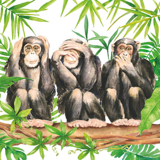 Three Apes Lunch Napkin