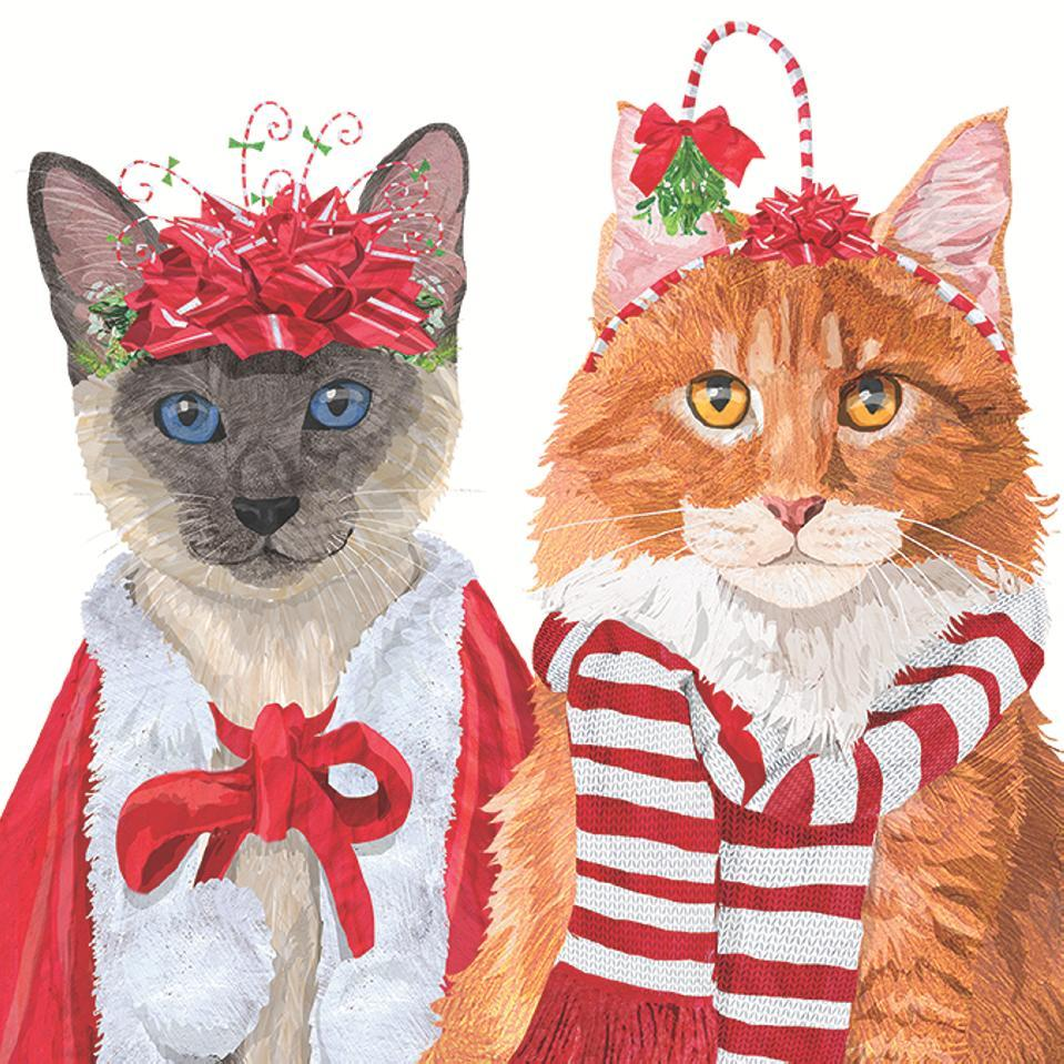 Festive Felines Lunch Napkins