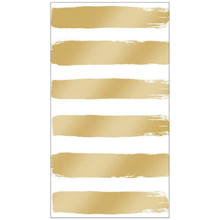 Fashion Stripes, Gold Guest Towel
