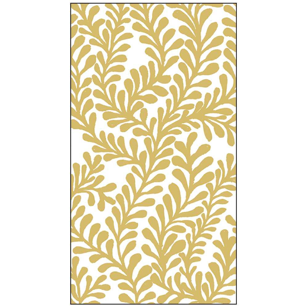 Flora Gold Guest Towel