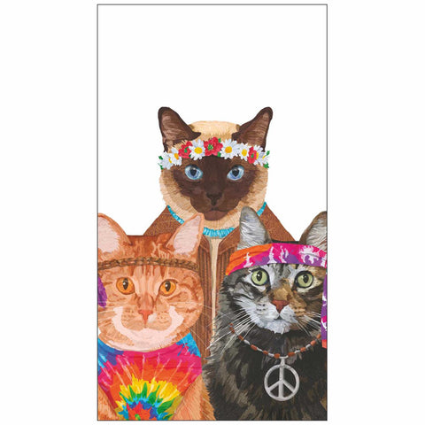 Groovy Cats Guest Towel