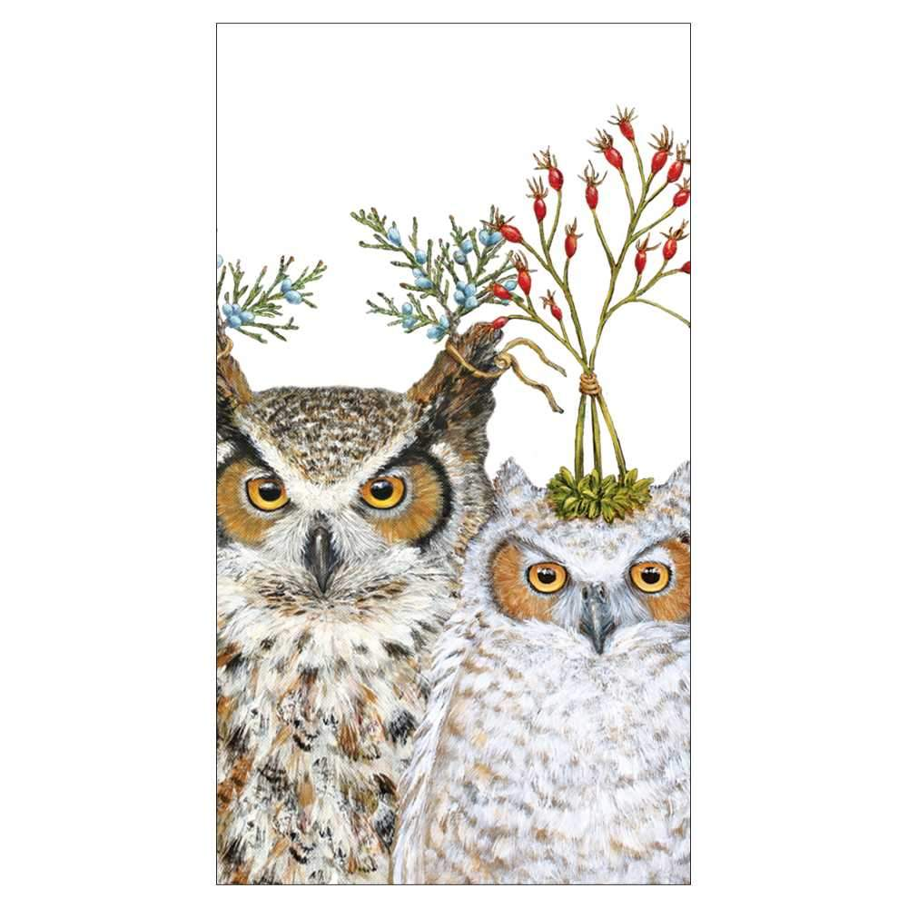 Holiday Hoot Guest Towel