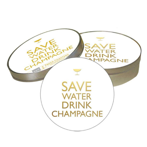 Drink Champagne Coaster Set (min.6)