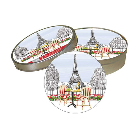 Bistro de Paris Pulpboard Coaster Set