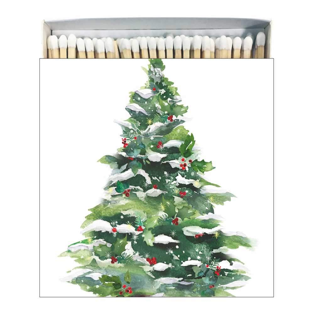Winter Tree & Wreath Matches, Square