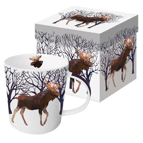 Winter Moose Gift Boxed Mug (min.6)
