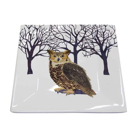 Winter Owl Square Plate (min.6)