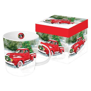 Noah's Red Pickup Gift-Boxed Mug