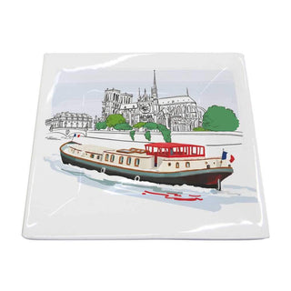 Bateau de Paris Square Plate, Small