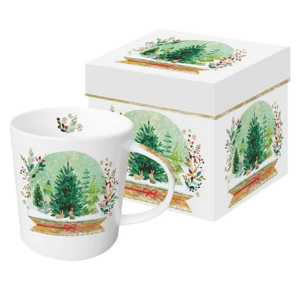 Holiday Snowglobe Gift-Boxed Mug