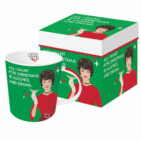 Alcohol & Drama Gift-Boxed Mug
