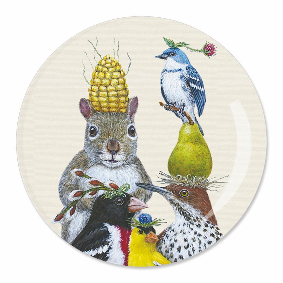 Party Under The Feeder Appetizer Plate