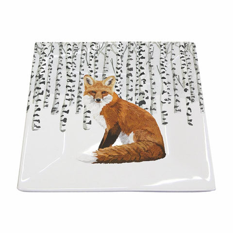 Wilderness Fox Square Plate