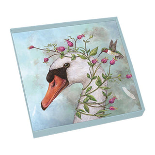Iris & Stanley Gift-Boxed Square Glass Plate