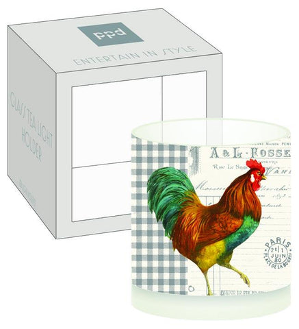 French Rooster Boxed Tea Light Holder (min.6)