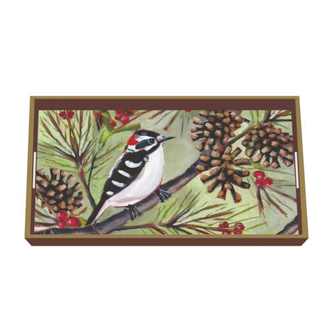 Winter Bird Musée Wood-Lacquered Vanity Tray