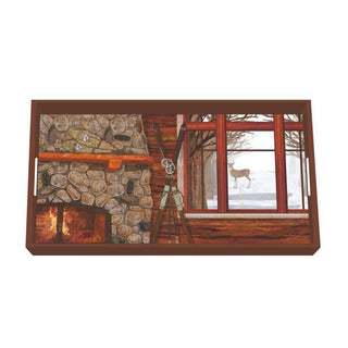 Winter Chalet Wood-Lacquered Vanity Tray