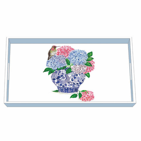 Dynasty Bouquet Wood Lacquered Vanity Tray