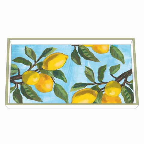 Lemon Musée Wood Lacquered Vanity Tray