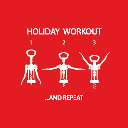 Holiday Workout Beverage Napkin (min.12)