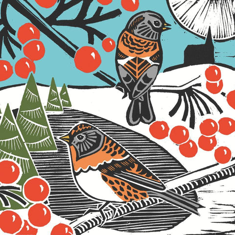 Winter Birds Lunch Napkins