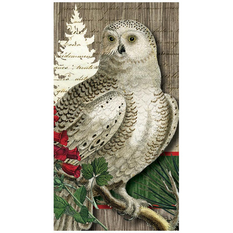 Winter Woods Owl Guest Towel