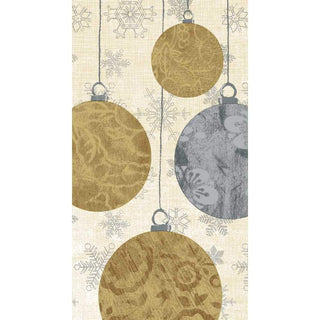 Holiday Ornaments Guest Towel