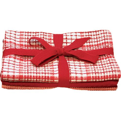 Waffle Weave Red Towels Set of 3 (min.6)