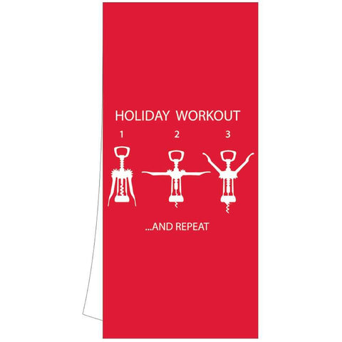 Holiday Workout Kitchen Towel (min.6)