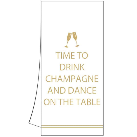 Drink Champagne Kitchen Towel (min.6)