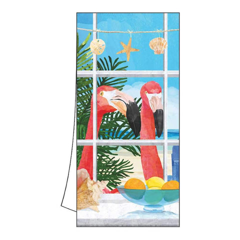 Oceanview Flamingos Kitchen/Bar Towels