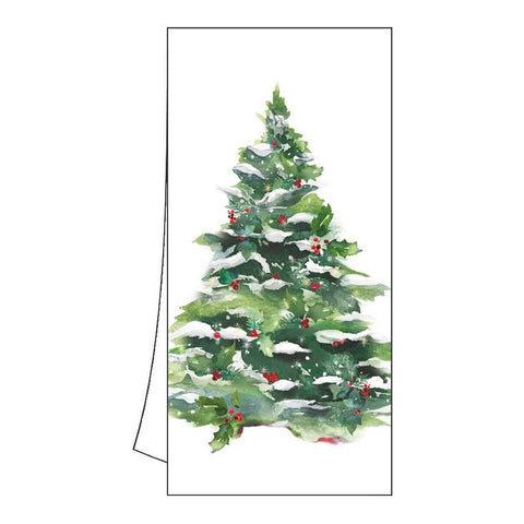 Winter Tree & Wreath Kitchen Towel